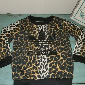Baby Girl 18 Months Adidas Leopard Sweatshirt